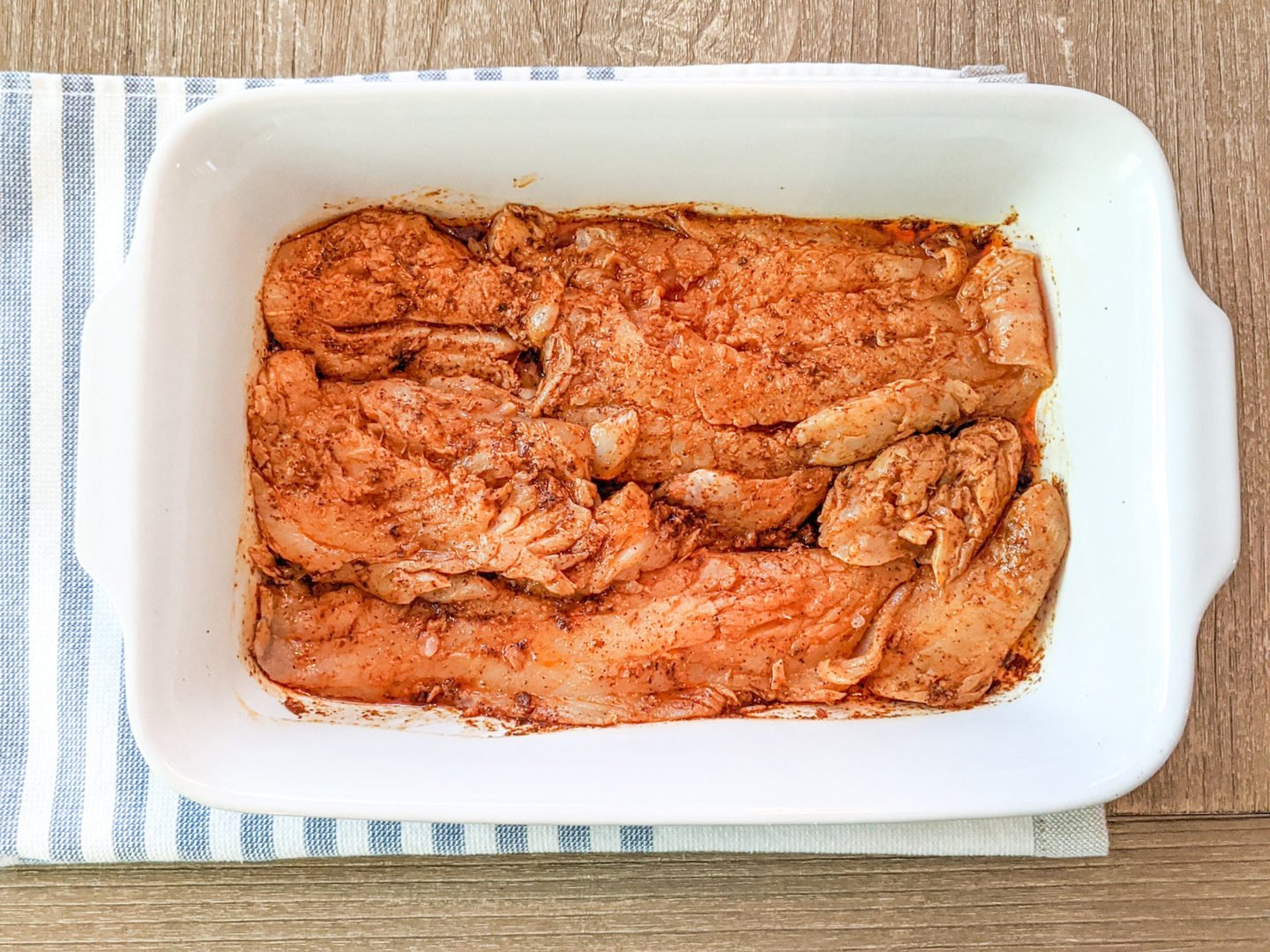 Marinate the fish for 20-30 mins.