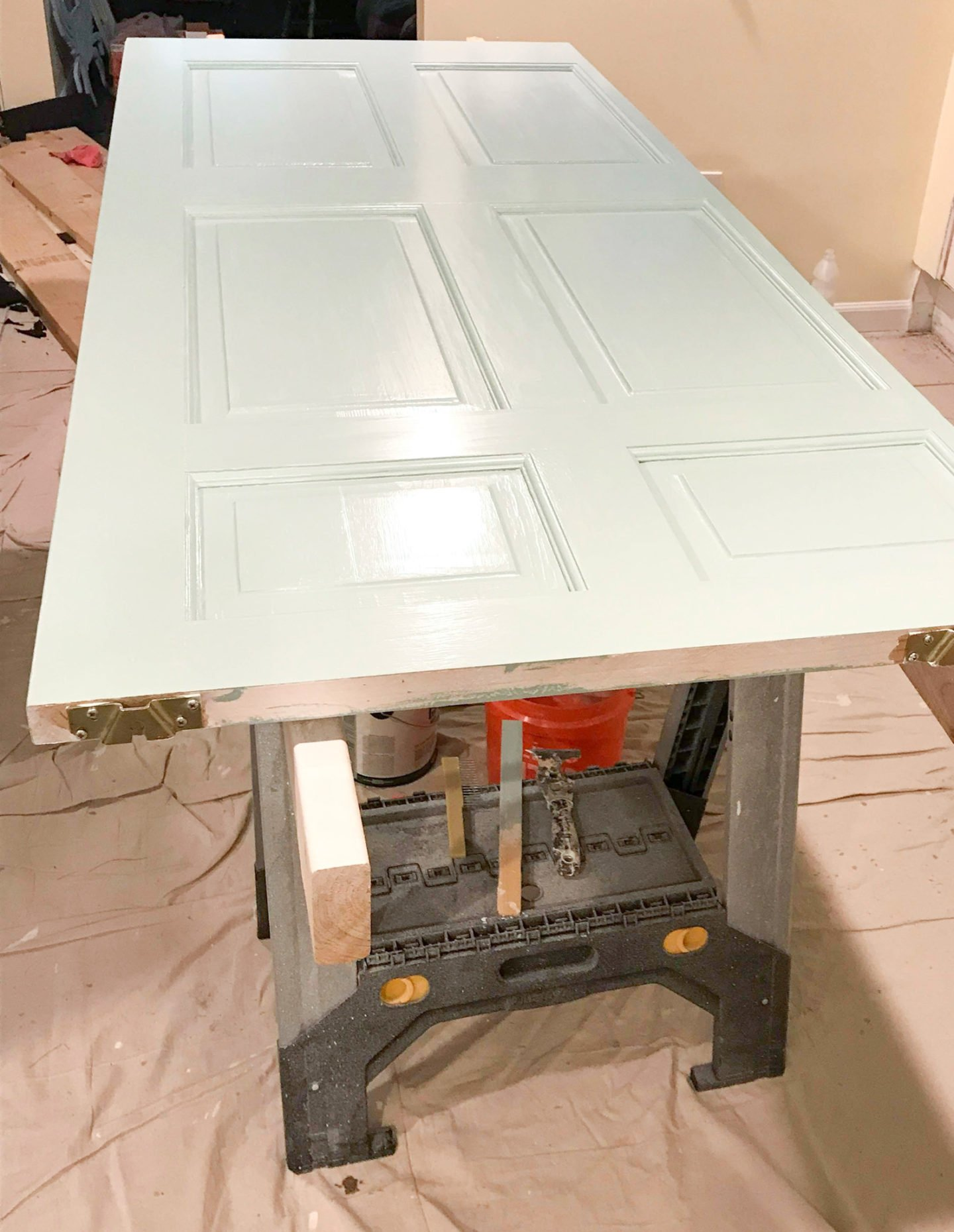Step 8 in the door painting tutorial - apply the paint