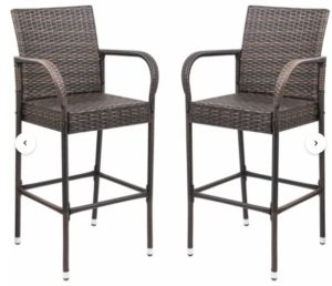 Dalessio Outdoor Garden 30″ Patio Bar Stool (Set of 2)