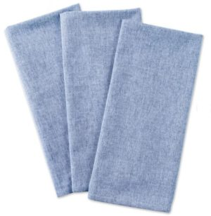 Solid Chambray Dishcloth (Set of 3)