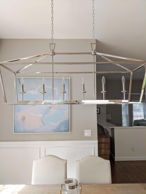 Carmen 6-Light Kitchen Island Linear Pendant Light