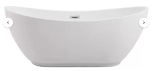 Ines 67″ x 28″ Freestanding Soaking Bathtub