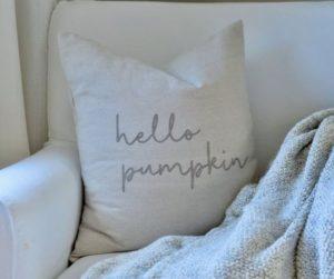 Farm House Pumpkin Pillow