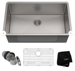 Standart PRO™ 30″ L x 18″ W Undermount Kitchen Sink with Basket Strainer