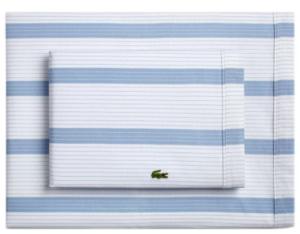 Cotton Percale Lacoste Striped 100% Cotton Sheet Set