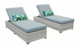 Falmouth Reclining Sun Lounger Set with Cushions (Set of 2)