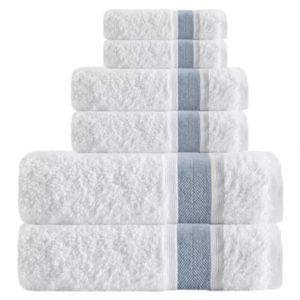 Amesfield Smooth 6 Piece Turkish Cotton Bath Towel Set