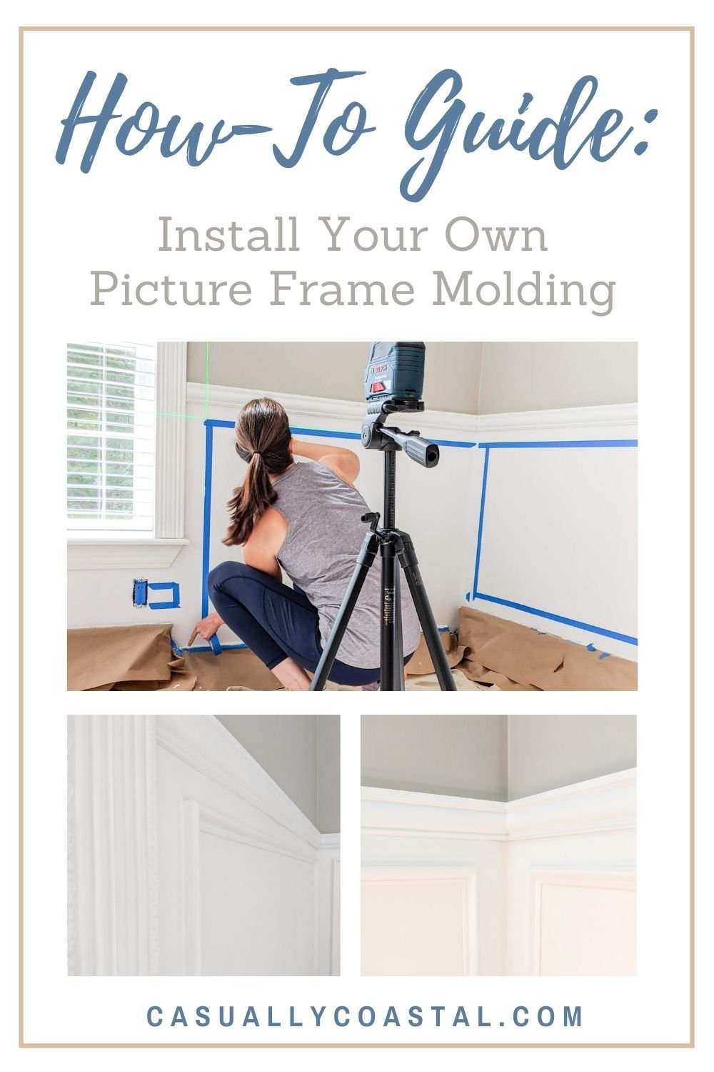 How to Install Picture Frame Molding and Chair Rails