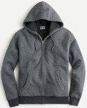 Marled brushed fleece sherpa-lined full-zip hoodie