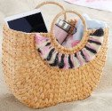Roxy Straw Tote with Fringe